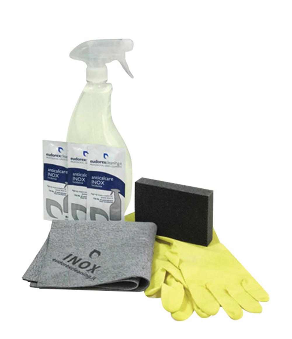 Kit Panno Anticalcare Inox – Detersivo Anticalcare 2,25 litri