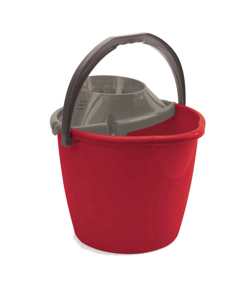 Secchio con strizzatore 13 litri Rosso