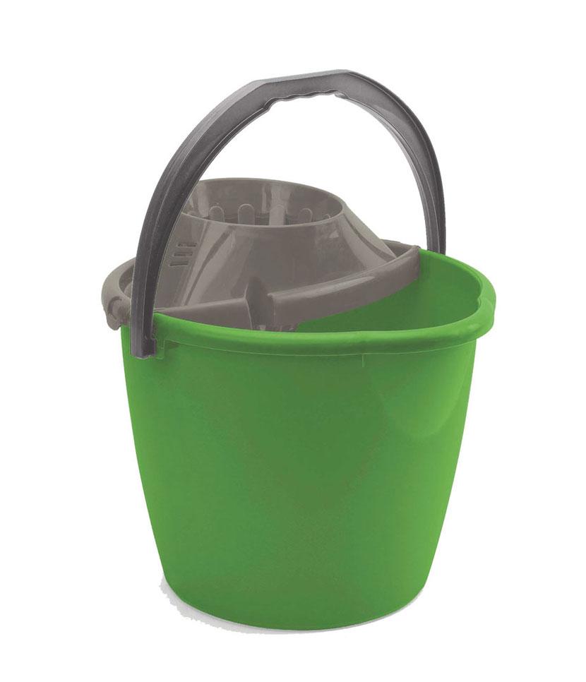 Secchio con Strizzatore 13 litri Verde