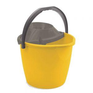 secchio con strizzatore giallo