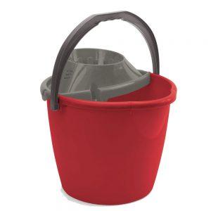 secchio con strizzatore rosso
