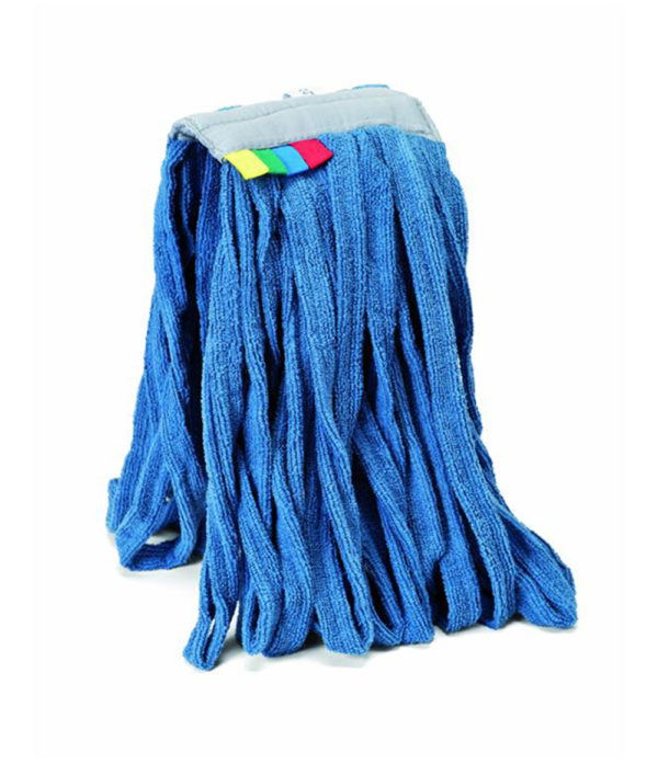 Mocio in microfibra tessile con attacco a pinza universale