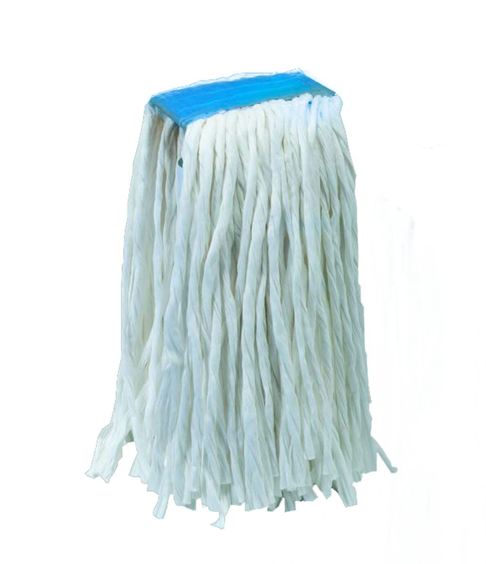 Mocio in viscosa con fascia pinza – blu