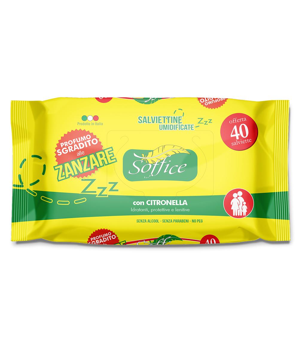 Salviette antizanzare alla citronella 40pz