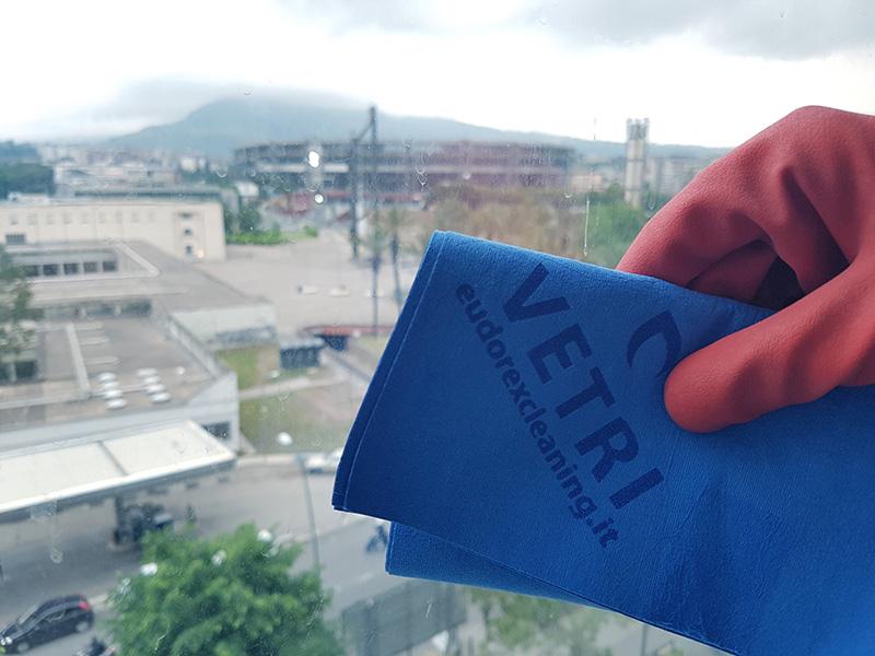 <span class='p-name'>Panno per Vetri: come pulire i vetri senza aloni con panno in microfibra blu di Eudorex</span>