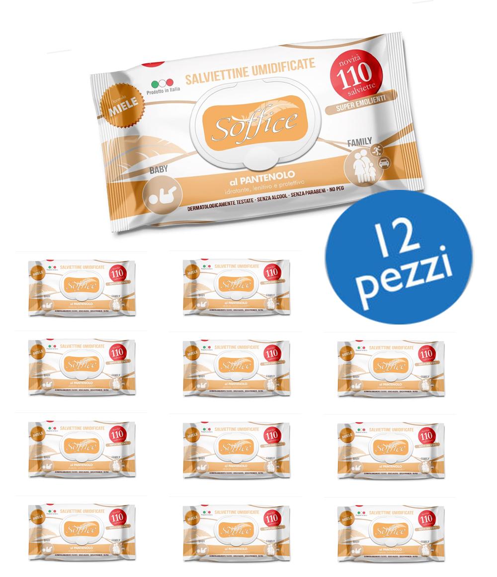 Salviette al miele – scorta convenienza 12 confezioni