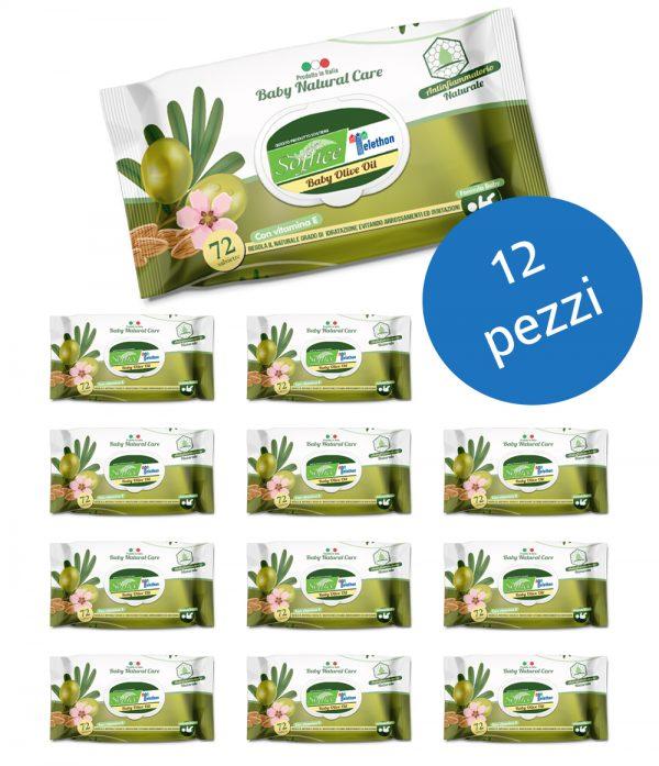 12 salviette bambini olio oliva