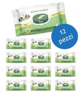 <span class='p-name'>Salviette neonati cotone biodegradabili scorta convenienza 12 confezioni</span>