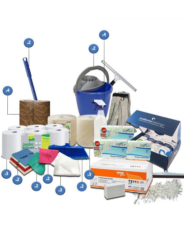 kit completo per imprese di pulizie